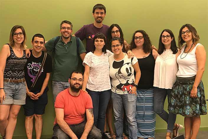 Grup de joves amb esclerosi múltiple