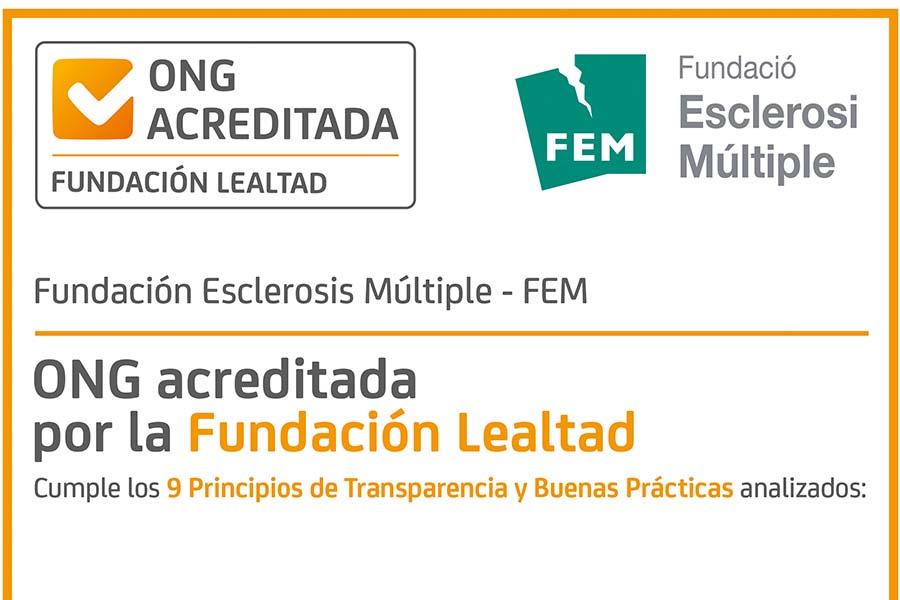 Fundación Lealtad acredita la transparència de la Fundació Esclerosi Múltiple