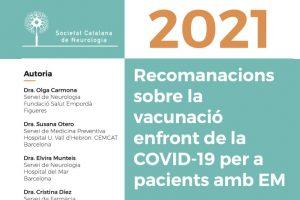 Recomanacions Societat Catalana de Neurologia covid i EM